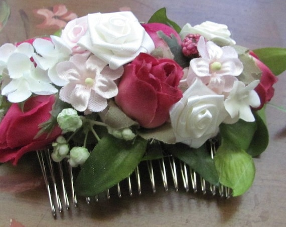 Hair Accessory, Hair Flowers, Hair Comb, Bridesmaids Hair Comb, Prom Hair Comb, Homecoming Hair Comb