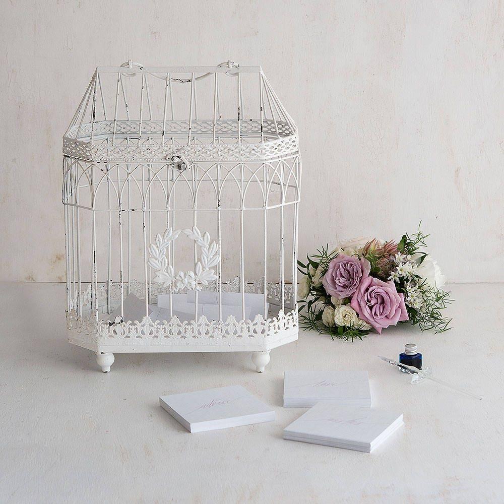 Wedding Centerpiece Birdcagewedding Wishing Well Wedding Birdcage