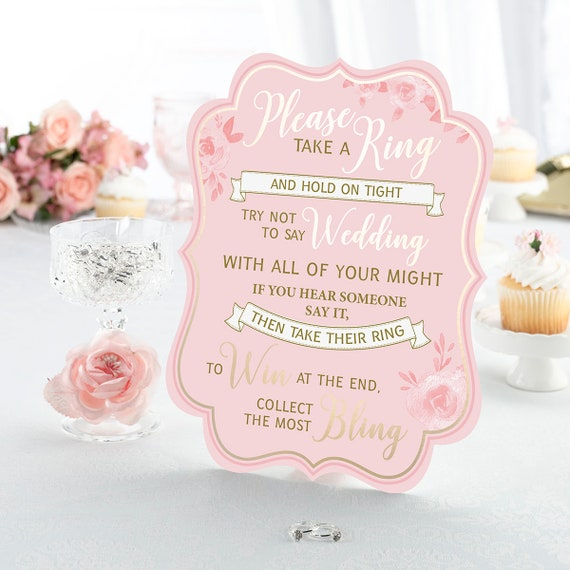 Bridal Shower Game, Ring Game, Brides Party Game, Bridal Shower Favor Game, Wedding Shower Games