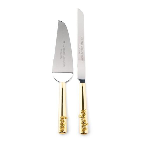 Engraved Better Together Cake Knife and Server Set, Wedding Reception Cake Ceremony Cutting Set