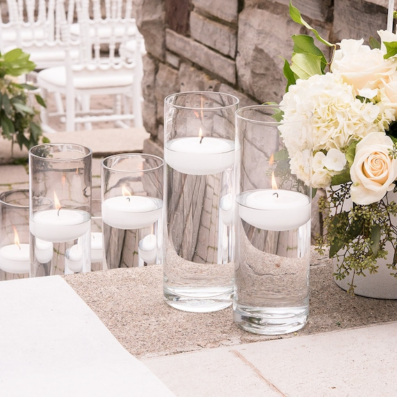 Wedding Vases, Reception Floating Candle Holder, Flower Cylinders, Centerpiece Vases, Floral Containers,