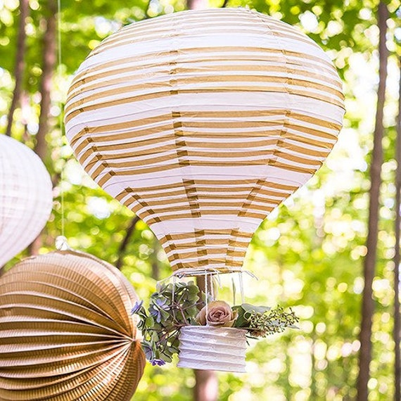 3 Hot Air Balloon Paper Party Lanterns for Decorations at Weddings and Events