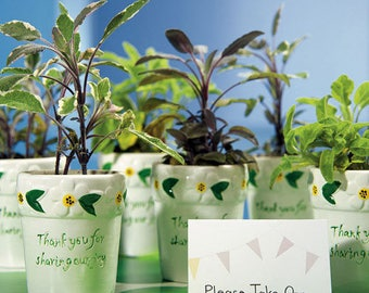 Flower Pots, Thank You for Sharing Our Joy Flower Pot, Wedding Favor Flower Pots, Planter, Mini Flower Pots, Party Flower Pots, Party Favors
