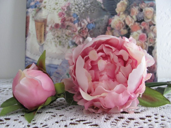 Floral Stem, Lavender Pink Peony, Peonies, Peony flower,Peony Bud,Craft Flowers, Wedding Flowers, Bridal Bouquet Flowers, Cake Flowers