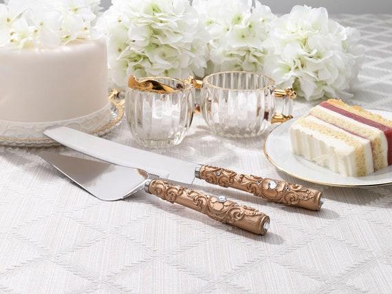 Wedding Cutlery, Wedding Cake Ceremony Knife Server Set, Wedding Cake Serving Set, Wedding Cake Cutlery Set Reception Cake Cutting Knife Set