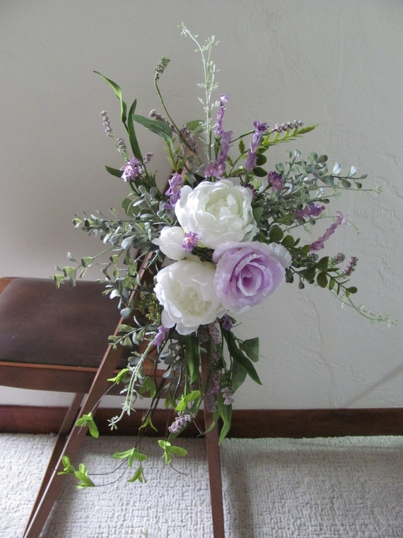 Flowers for Wedding Chairs, Wedding Chair Decor,Ceremony Chair Flowers, Wedding Flower Decorations,Wedding Aisle Flowers, Floral Arrangement