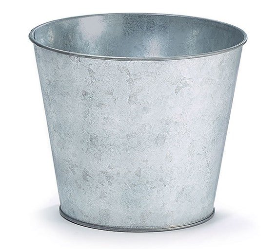 24 Wedding Party Event Buckets, Galvanized Tin Flower Pots, 24 Tin  Buckets, Flower Planters, Party Buckets, Floral containers