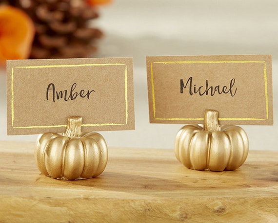 Seating Card Holders, Name Card Holders, Favors, Table Card Holders, Place Card Holders, Pumpkin Card Holders, Place Cards with Holders