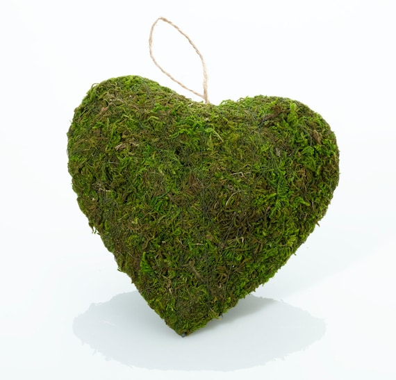Moss Craft Heart, Moss Wedding Heart, Moss Floral Supplies, DIY Moss Wedding Aisle Decorations, DIY Moss Wedding Chair Decor