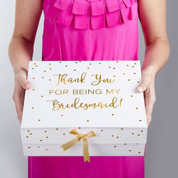 Bridesmaid Gift Box, Thank You for Being My Bridesmaid Box, Bridesmaids Gift Boxes