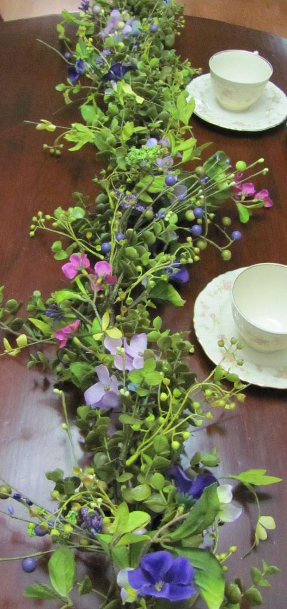 Garland, Wedding Garland, Wedding Floral Garlands, Home Decor, Wedding Decorations, Reception Garland, Table Garlands, Centerpiece Garland