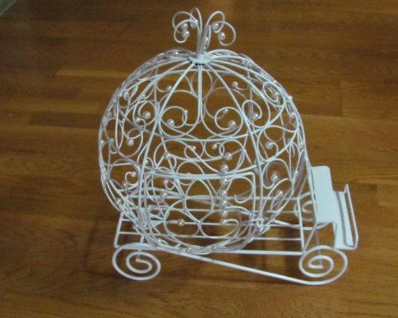 Wedding Card Holder, Floral Supplies Flower Holder,  Fairy Tale Event Wire Pumpkin Coach