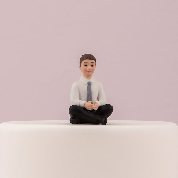 Wedding Cake Topper, Cake Top Preteen Boy Porcelain Figurine, Wedding Cake Top Child