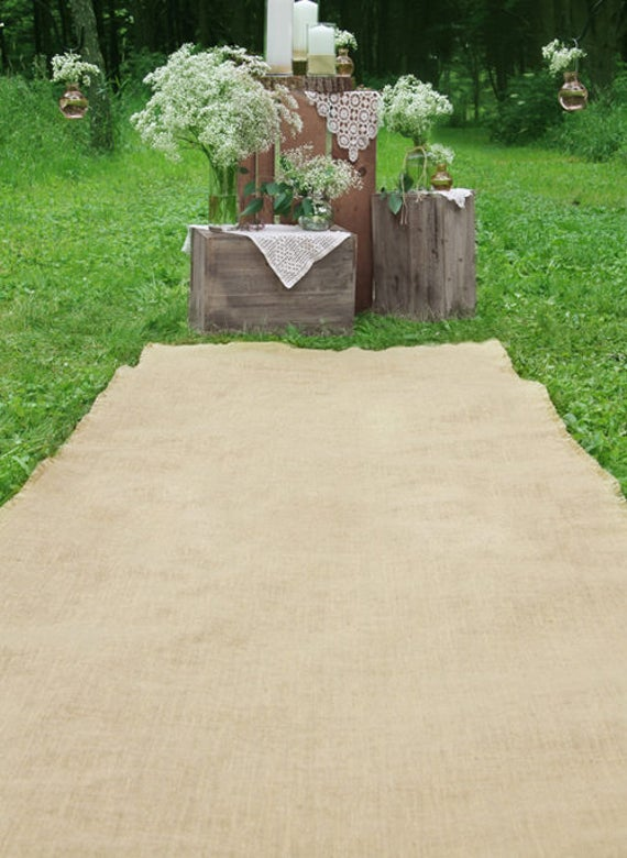 Burlap Wedding Aisle Runner, Wedding Runners, Wedding Ceremony Aisle Runner, Burlap Runner  50 Foot Long by 40 Inches Wide