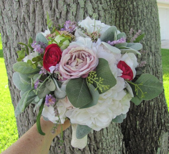 Bridal Bouquet, Wedding Bouquet, Large 12 Inch Brides Bouquet, Pretty Bouquet for the Bride, Destination Wedding Bouquet