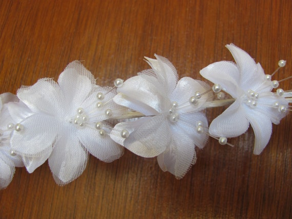 Bridal Headpiece Flowers, Wedding Headpiece Flowers,DIY White Flowers Wedding Hair Accessories, Corsage Flowers, Hair Flowers,Embellishments