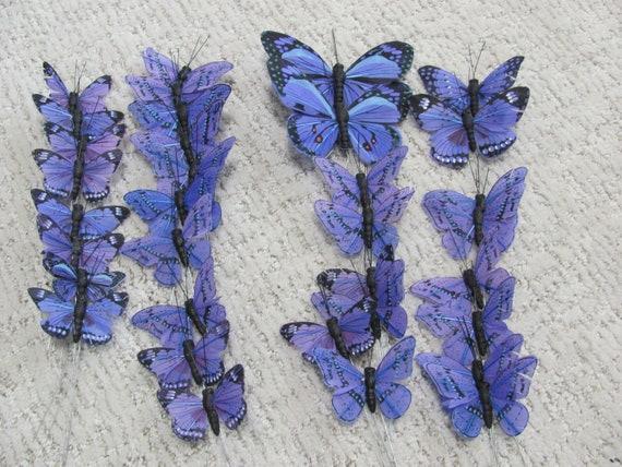 Craft Butterflies, Wedding Butterflies, Butterflies Decorations, Purple Blue Butterflies, reath Butterflies, Floral Arrangement Butterflies