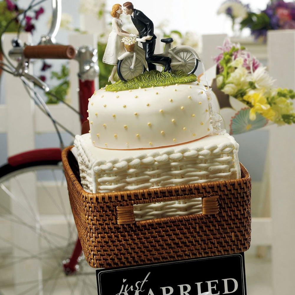 Wedding Cake Topper Wedding Bride Groom Cake Top Bicycle Couple