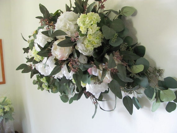 Wedding Flowers, Archway Flower Swag, Ceremony Flowers, Wedding Floral Swag, Arbor, Decorations for Weddings and Events, Flowers for Arbors