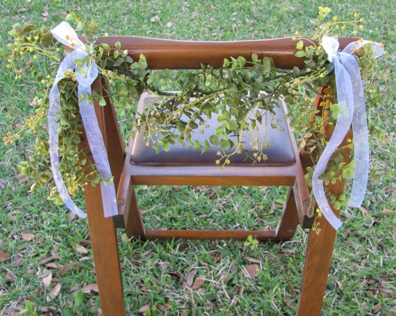 Wedding Chair Garland, Chair Decorations, Wedding Garlands, Wedding Decorations, Chair Garland, Reception Chair Garlands, Chair Garland