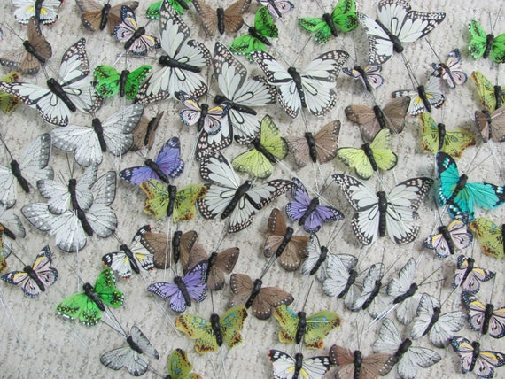 Butterflies, Craft Butterflies, 70 Butterflies, Party Favor Butterflies, Wreath Butterflies, Decorative Butterflies for Crafts