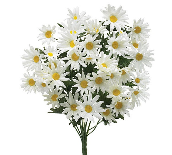 Daisy Bush, Artificial Flowers, Wedding Craft Flowers, Silk Daisies, Hair Flowers, Wedding Cake Flowers, Party Favor Flowers