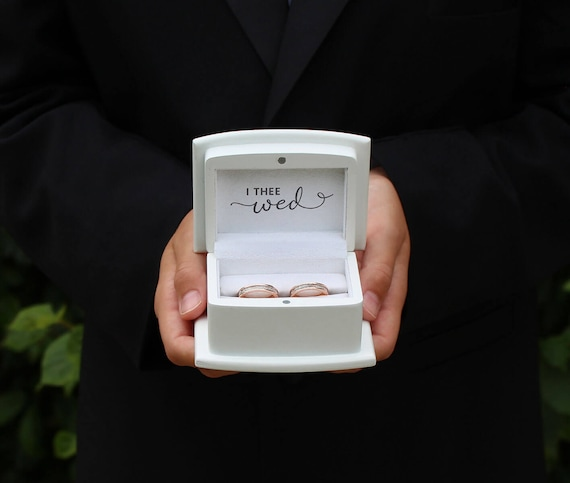 Wedding Ring Ceremony Box, Wedding Ceremony Ring Box, With These Rings Box