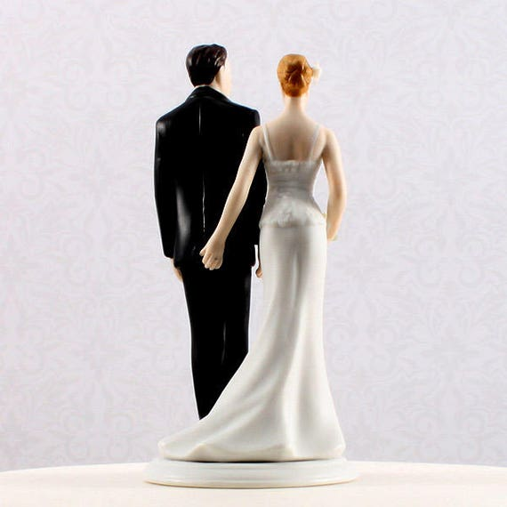 Wedding Cake Topper The Love Pinch, Bride and Groom Cake Top Figurines, Funny Wedding Cake Toppers