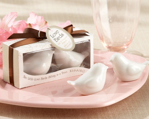 Wedding Reception Favors, Love Birds in the Window Party Favors, Salt and Pepper Shaker Favors, Wedding Guest Party Favors