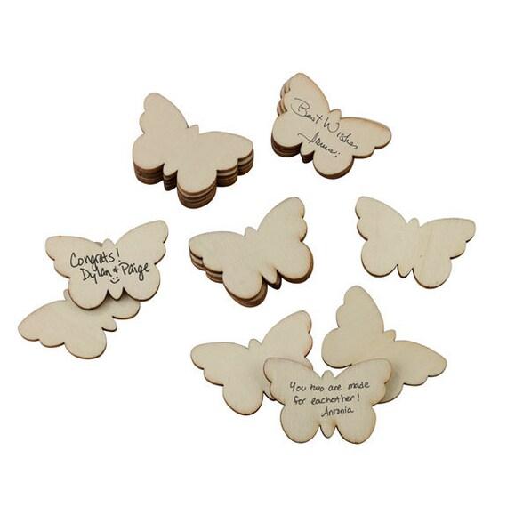 Wood Butterflies, Butterflies to Sign, Wedding Butterflies, Event Butterflies, Wood Shaped Butterflies,