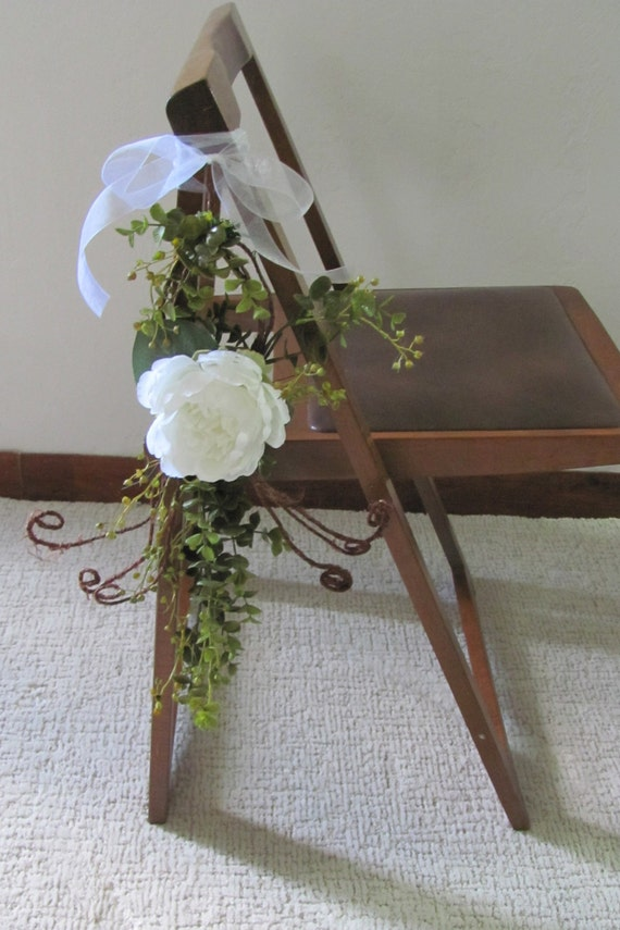 Wedding Decorations, Wedding Ceremony Aisle Flowers, Wedding Chair Flower Tie On, Wedding Aisle Decorations, Wedding Pew Markers