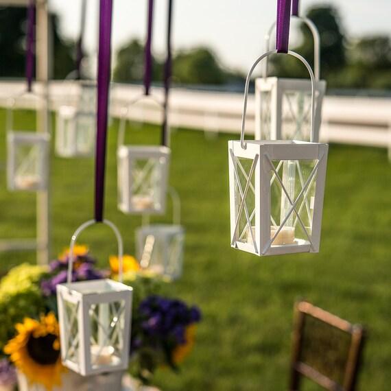 Wedding Decorating Supplies, 4 Mini Lanterns, Lantern Vases,Wedding Reception Table Decor, Floral Lanterns
