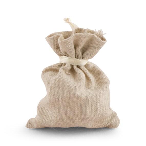 Favor Bags, Wedding Favor Bags, Rustic Charm Favor Bags, Small Plain Linen Drawstring Bags, Party Favor Bags