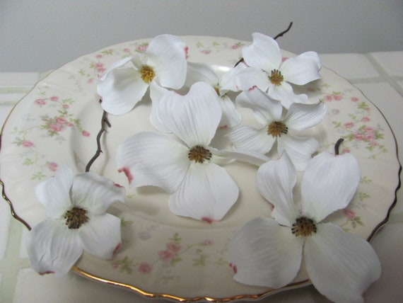 Dogwood Flowers, Dogwood Artificial Flower Cuttings, Hair Flowers, Bouquet Flowers, Corsage Flower