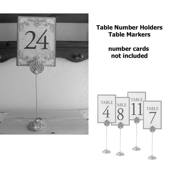 Wedding Table Number Stands, Jeweled Table Markers, Wedding Supply for Menus or Create a Photo Memory Lane Display