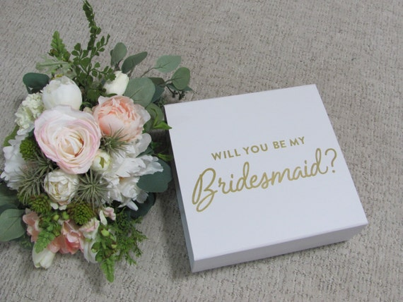 Bridesmaids Proposal Box, Bridesmaid Empty Gift Box, Bridal Gift Boxes, Will You be My Bridesmaid Box