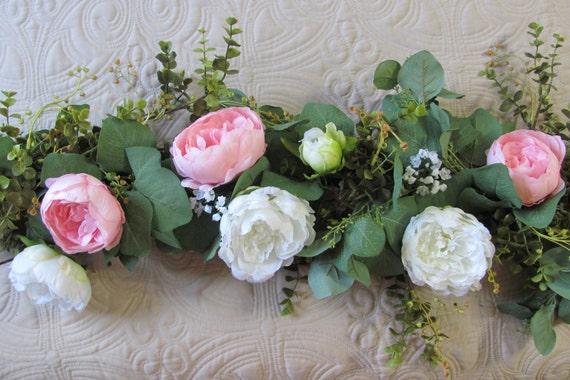 Artificial Garland, Centerpiece Garland, Eucalyptus Wedding Garland, Wedding Decorations for Table, Head Table Garland Decoration