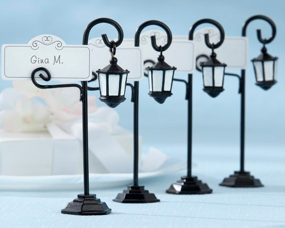 Unique Place Card Holders, Wedding Seating Card Holders, Party Table Card Holders, Wedding Party Favors, Lamp Place Cards with Holders