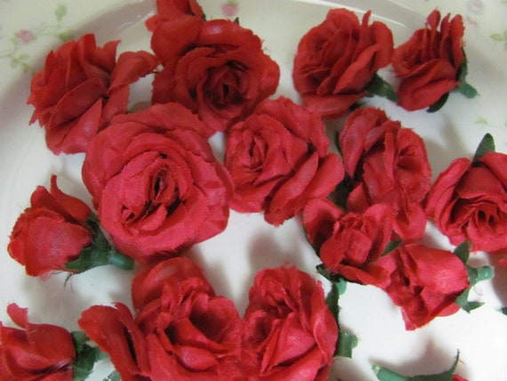 Red Rose Flower Heads, Craft Roses, Flower Crafts, Hair Wreath Flowers, Flowers for Crafting Bracelets, Hair Craft Flowers