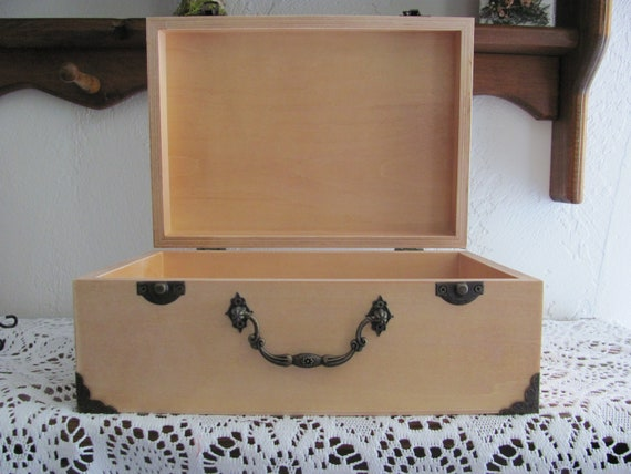 Wedding Card Box, Valentines Box, Craft Box, Wooden Suitcase, Ulternative Guest Book, Ready to be Decorated for Your Wedding