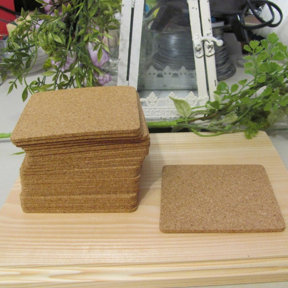 Cork Coaster for Stamping, Wedding Cork Coaster Crafts, Square Coasters for Crafts