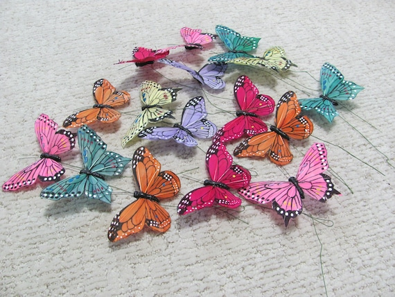 Spring Craft Butterflies, Wreath Butterflies, Assorted Butterfly for Crafts