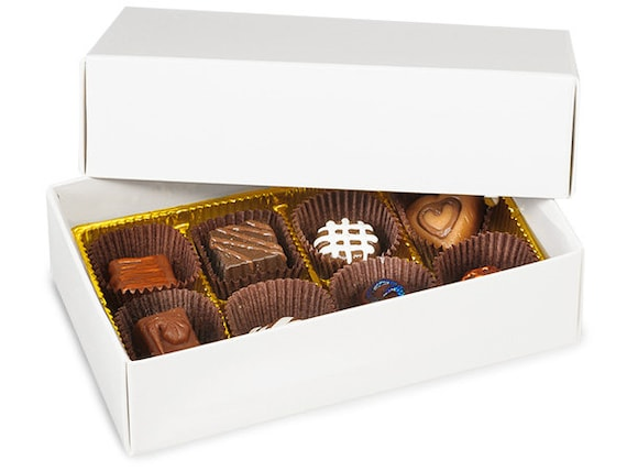 6 White Boxes, Gift Boxes, Corsage Boxes,  Box for Homemade Fudge and Candies,