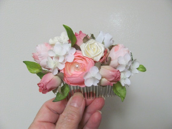 Floral Hair Comb, Flowers for Your Hair, Bridal Hair Flowers, Bridal  Prom Hair Comb, Hair Accessories, Decorative Hair Comb