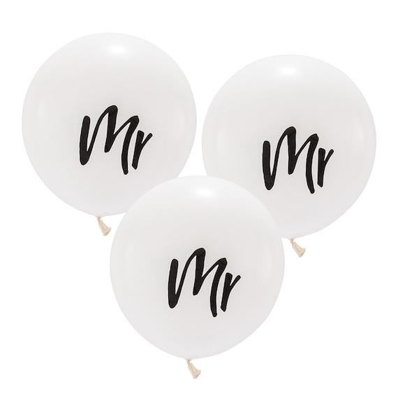 Wedding Balloons, 3 Mr Wedding Balloons, 17 Inch mr. Wedding Balloons, Wedding Decorations Balloons