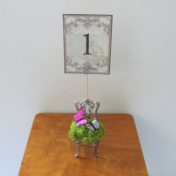 Wedding Table Number Holder, Wedding Decorations,Butterfly Decor, Wedding Reception Table Number Holder,Photo Holder, Stationery Holder