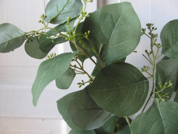 Eucalyptus ,Seeded Silver Dollar Eucalyptus Stem, Artificial Eucalyptus Branch, Wedding Eucalyptus