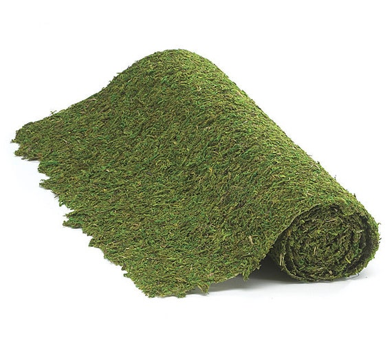 Green Moss Floral Mat, Moss Table Runner,  Wedding Centerpiece Runner,  Woodland Wedding Supplies, Craft Moss