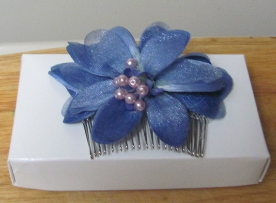 Blueish Purple Hair Comb, Hair Accessories, Prom Hair Comb, Bridal Hair Comb