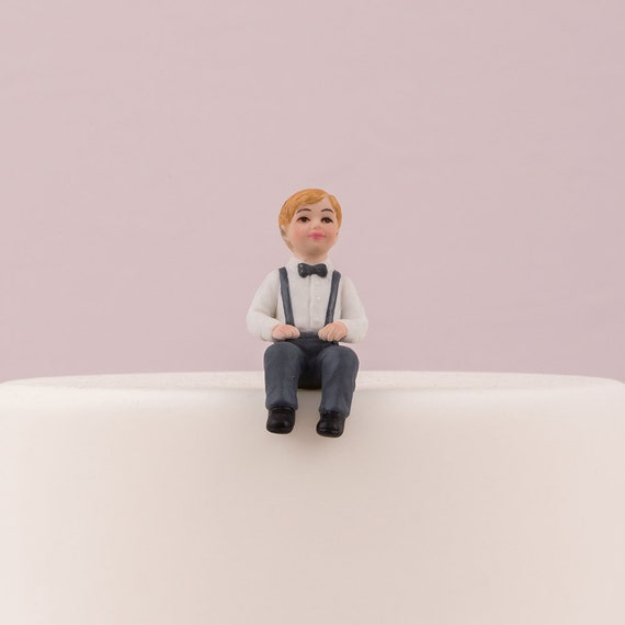 Toddler Boy Cake Topper, Wedding Cake Little Boy Cake Topper